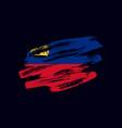 grunge textured liechtensteiner flag vector image vector image