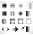 halftone black dots elements set vector image vector image