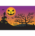 halloween invitation with haunted house and moon vector image
