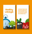 healthy lifestyle concept vector image vector image