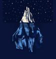 iceberg in ocean a large piece glacier vector image