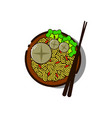 indonesian famous food in flat design vector image vector image