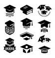 isolated black and white color students graduation vector image vector image