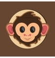 jungle monkey cartoon emblem vector image