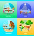 kindergarten characters design concept vector image vector image