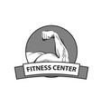 logo for fitness center vector image vector image
