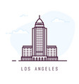 los angeles line style building vector image