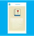love diary mobile vertical banner design design vector image