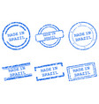 made in brazil stamps vector image vector image