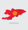 map of kyrgyzstan vector image
