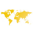 map of world yellow gradient silhouette vector image vector image