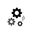 mechanical engineering black icon sign on vector image vector image