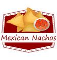 Mexican Nachos vector image