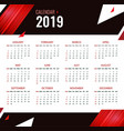 modern calendar template for 2019 years bright vector image vector image