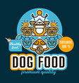 on the theme of food for dogs vector image vector image