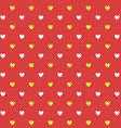 pattern with hearts seamless background bright vector image