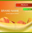peach natural juice concept background realistic vector image