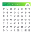 Plant Line Icons Set vector image vector image