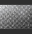 realistic rain on transparent background falling vector image