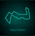 reaver road circuit outline vector image