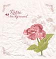 retro decorative floral template vector image vector image