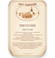 Retro Style Thanksgiving Background vector image