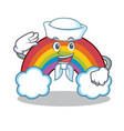 sailor colorful rainbow character cartoon vector image vector image