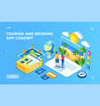 screen for tourism and booking vacation concept vector image vector image