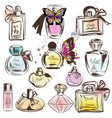 set of different perfumes elegant design vector image vector image