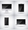 set of gadgets technologies digital responsive vector image vector image