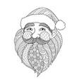 smile santa vector image