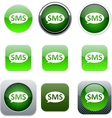 SMS green app icons vector image vector image