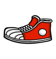 sneaker cartoon icon vector image vector image