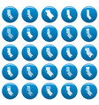 socks textile icons set vetor blue vector image vector image