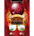 Summer beach party flyer design with disco ball vector | Price: 3 Credits (USD $3)