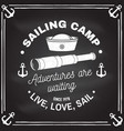 summer sailing camp badge concept for vector image vector image