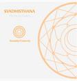 svadhisthana- the sacral chakra vector image vector image