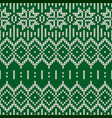 sweater fairisle design vector image vector image