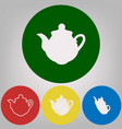 tea maker sign 4 white styles of icon at vector image