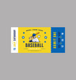 template baseball ticket vector image