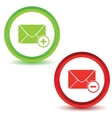 Two mail manage icons vector image