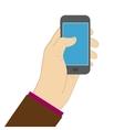 using smartphone screen flat vector image