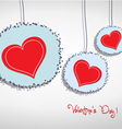 Valentine hang heart on wall vector image