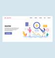 web site gradient design template creative vector image vector image
