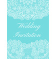wedding invitation template vector image vector image