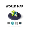 World map icon in different style vector image vector image