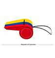 A Whistle of The Republic of Colombia vector image vector image