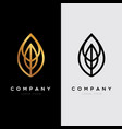 abstract elegant leave shape logo sign symbol icon vector image