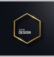abstract golden hexagonal shape vector image vector image