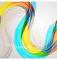 abstract lines colors concepts vector image vector image